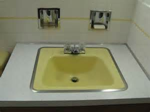 yellow bathroom sink 50s yellow bathroom sink retro renovation