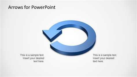 powerpoint circular arrow template 3d arrows powerpoint template slidemodel