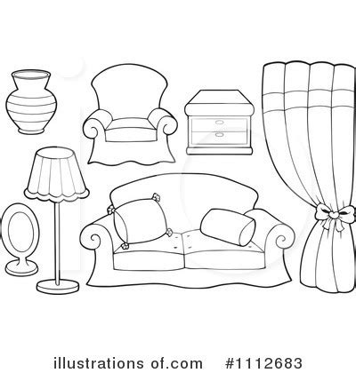 coloring pages furniture house furniture clipart 1112683 illustration by visekart