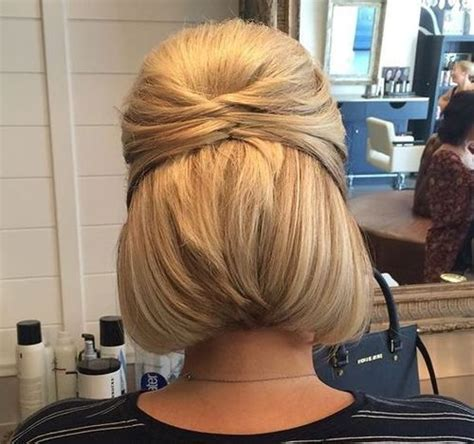 bob hairstyles tied up 25 best ideas about bob updo hairstyles on pinterest