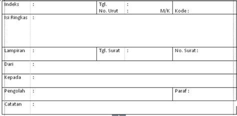 gambar format buku agenda berpasangan penanganan surat masuk sistem kartu kendali anugerah dino