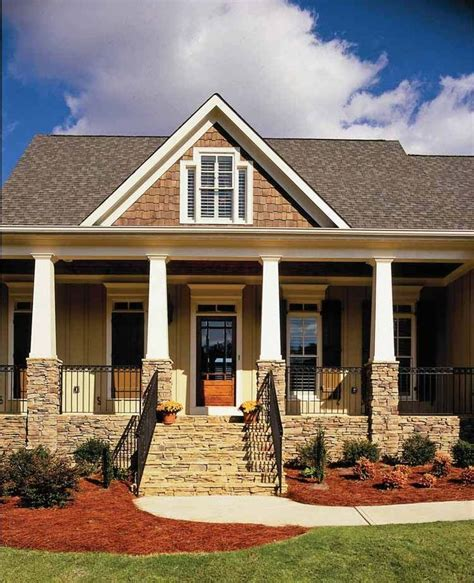 home plans with front porch architecture typically features wood siding wooden