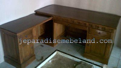 Bangku Sofa Jati Paradise furniture meja kantor kayu jati model l pesanan ibu