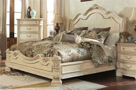 ortanique sleigh bedroom set ortanique king sleigh bed by millennium