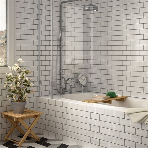 brick shaped bathroom tiles white chapel brick gloss tiles metro smooth 150x75 tiles