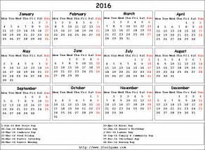 Netherlands Calendrier 2018 2016 Calendar Printable Calendar 2016 Calendar In