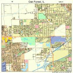 oak forest illinois map 1754638