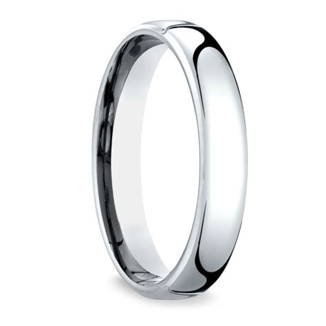 low dome s wedding ring in platinum 4 5mm