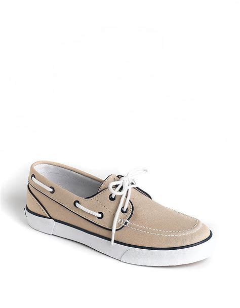 polo lander boat shoes polo ralph lauren lander canvas boat shoes in khaki for