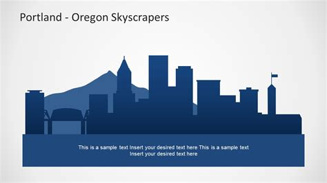 Portland Oregon Powerpoint Map Slidemodel Oregon State Powerpoint Template