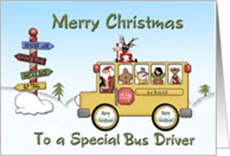 printable christmas card bus driver christmas cards for my school bus driver from greeting