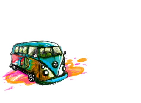 hippie van drawing hippie van by zbassartz on deviantart