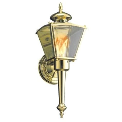 Brass Outdoor Light Fixtures Buy The Hardware House 176099 Outdoor Light Fixture Polished Brass Hardware World