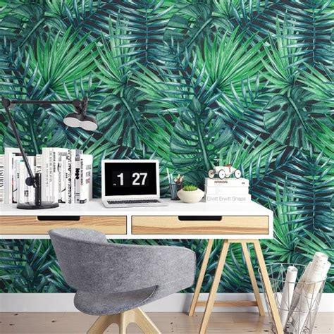 green nature modna tapeta na sciane  tropikalnym stylu