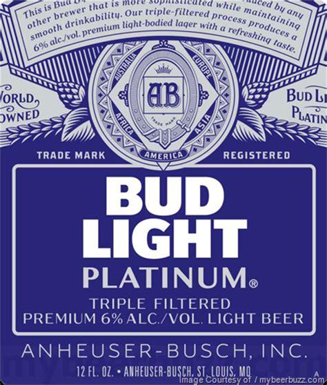 bud light platinum calories how many calories in bud light platinum top 10 lowest