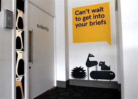 Environmental Graphics Wall Murals quirky redesign for london creative agency features cheeky