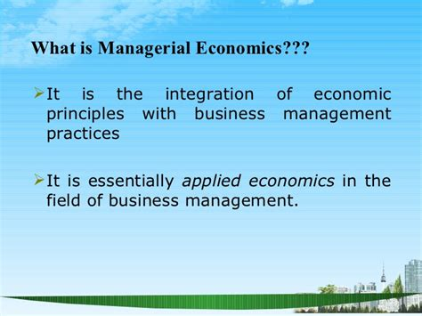 The Economoist No Mba by Managerial Economics Ppt Baba Mba 2009