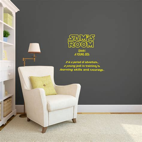 personalized wars intro sign for rooms wall decal