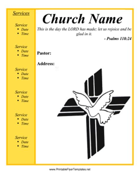 free printable templates for flyers church flyer