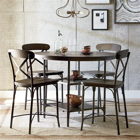 rustic counter height dining standard furniture montvale rustic bar height dining set