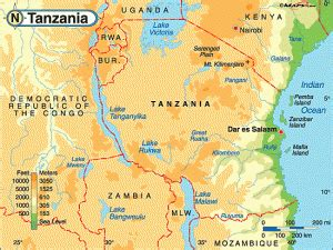 5 themes of geography tanzania geography