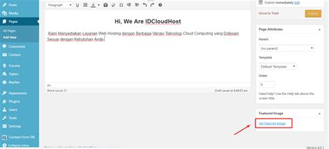 membuat front page wordpress cara membuat page halaman di wordpress idcloudhost