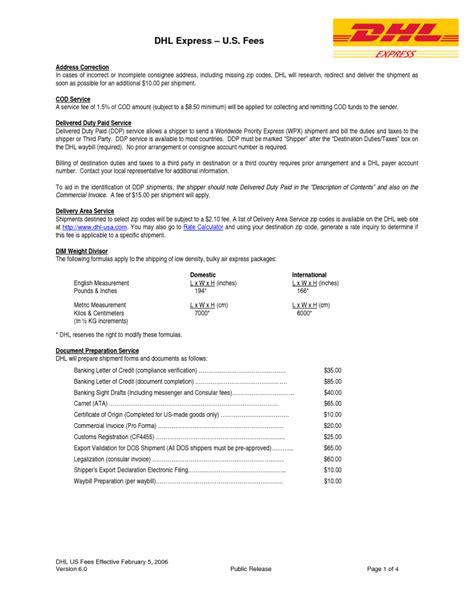 dhl proforma invoice template dhl proforma invoice template free invoice template