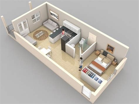 25 Best Ideas About Condo Floor Plans On Pinterest 3d House Plans 1 Bedroom Apartt 3d Floor
