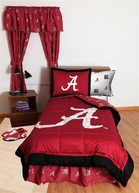 3pc ncaa alabama crimson tide queen comforter shams decor