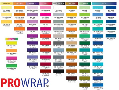 color names color chart with names www pixshark com images