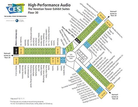 layout of venetian hotel las vegas ces 2012 high end audio high performance audio venetian