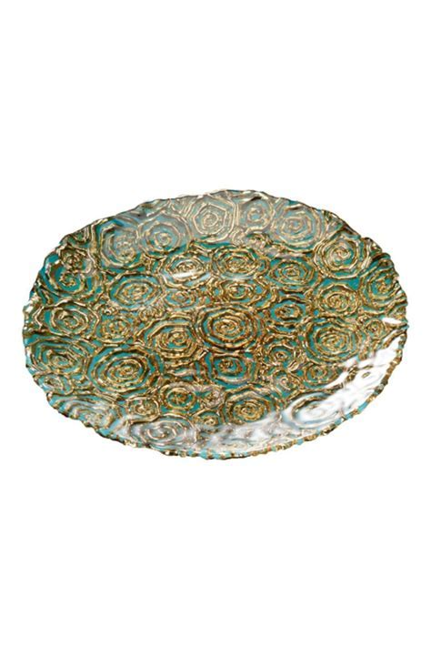 Turquoise Gold Dinner Plate Shoptiques, Gold Dinner Plate