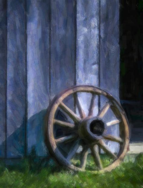 wagon wheel painting photograph by f leblanc