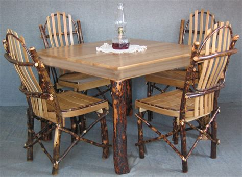 amish made dining room tables and chairs amish hickory dining table