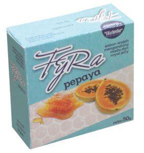 Sabun Wajah Pepaya jual sabun wajah herbal fyra carica papaya pepaya sarana muslim store