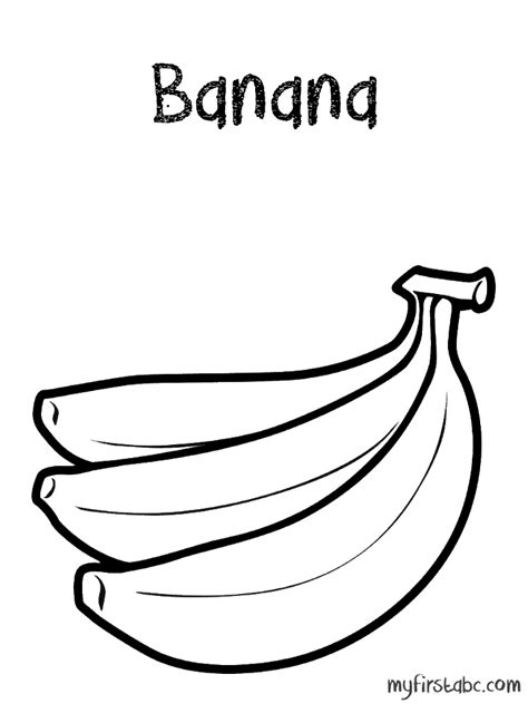 coloring page for banana banana color page coloring home