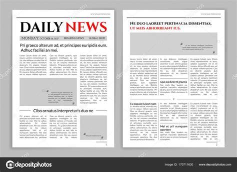 newspaper layout illustrator newspaper template design stock vector 169 axsimen 170711630