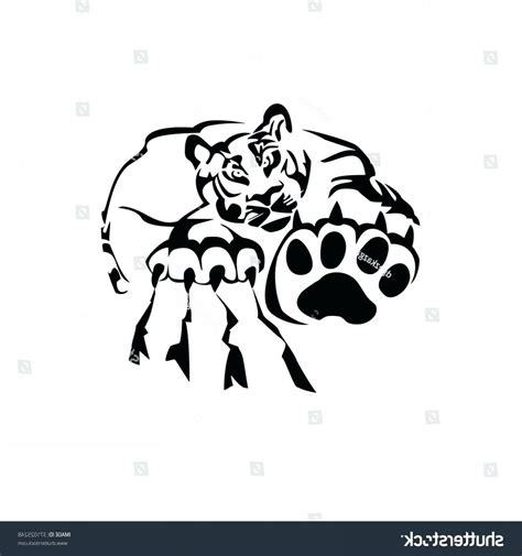 tiger paw template tiger paw template royalty free vector of a black and