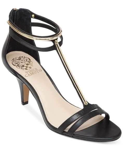 dress sandals lyst vince camuto mitzy dress sandals in black