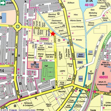 petaling jaya map isentric sdn bhd 3 jalan 51a 227 petaling jaya listed by
