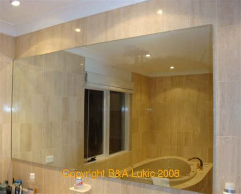 bathroom mirror bevelled edge mirrors