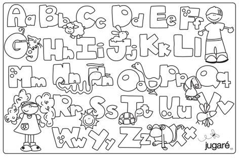 imagenes para colorear que inicien con las letras del abecedario abecedario para colorear