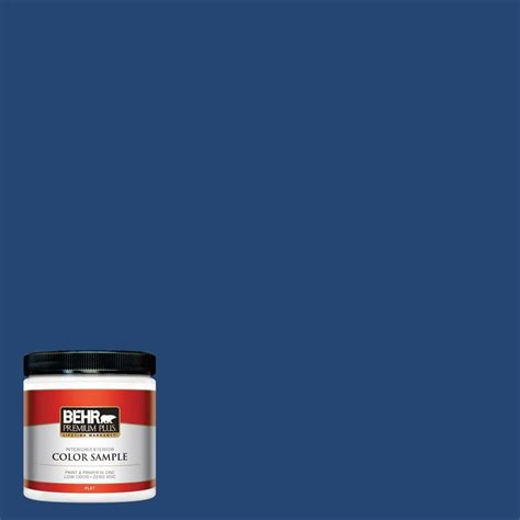 behr premium plus 8 oz s h 580 navy blue interior exterior paint sle s h 580pp the home depot