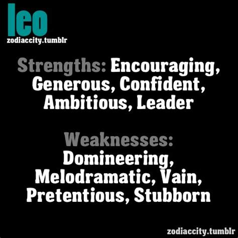 zodiac city leo strengths and weaknesses leo baby