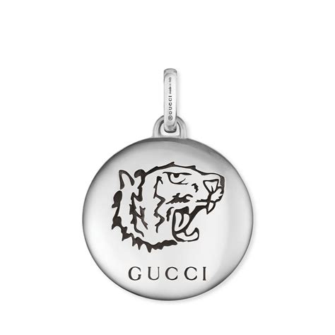 gucci blind for tiger aureco silver charm