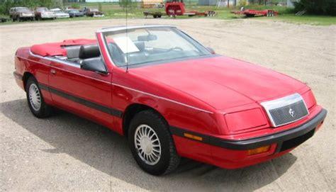 89 chrysler lebaron 1989 chrysler lebaron convertible greater dakota classics