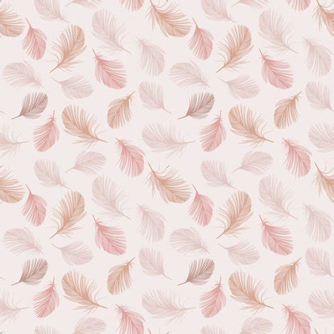three feathers in blush teal blush feathers fabric melinda wolf designs spoonflower
