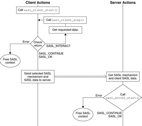 client server flowchart chapter 7 writing applications that use sasl developer s
