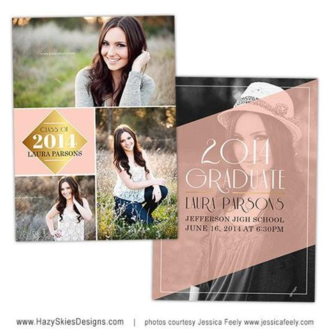 graduation announcement cards templates items similar to senior graduation announcement card