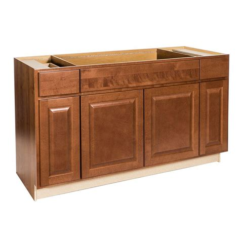 assembled 60x34 5x24 in sink base kitchen cabinet in hton bay assembled 60x34 5x24 in madison sink base